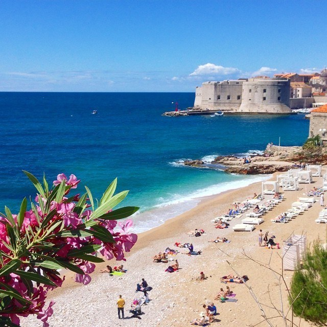 banje beach go dubrovnik travel