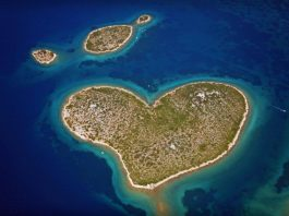 love island heart-shape Croatia Zadar Dubrovnik nature summer beach cover