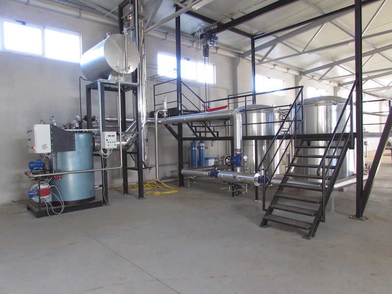 Destilerijski pogon za preradu smilja u eterično ulje