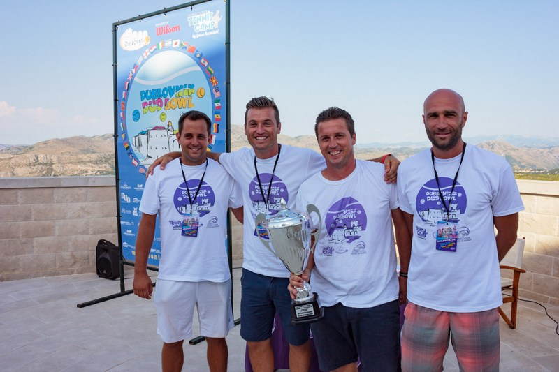 DUD BOWL tennis tournament Dubrovnik center Srđ Cable Car team