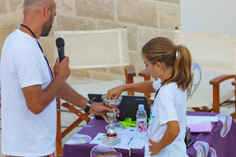 DUD BOWL tennis tournament Dubrovnik center Srđ Cable Car girl winner