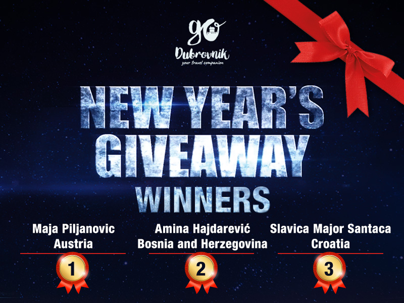 New Year's Giveaway Winners GoDubrovnik