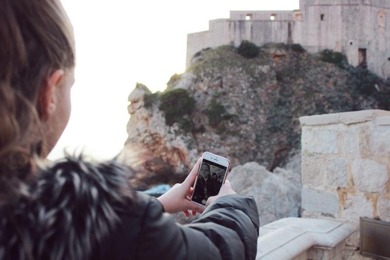 Klaudia Art Dubrovnik selfie