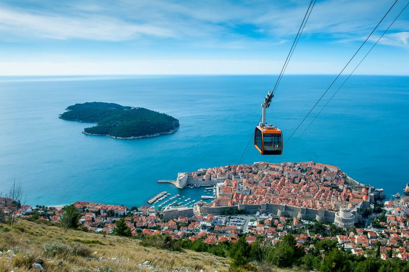 cable car Dubrovnik CNN top destination