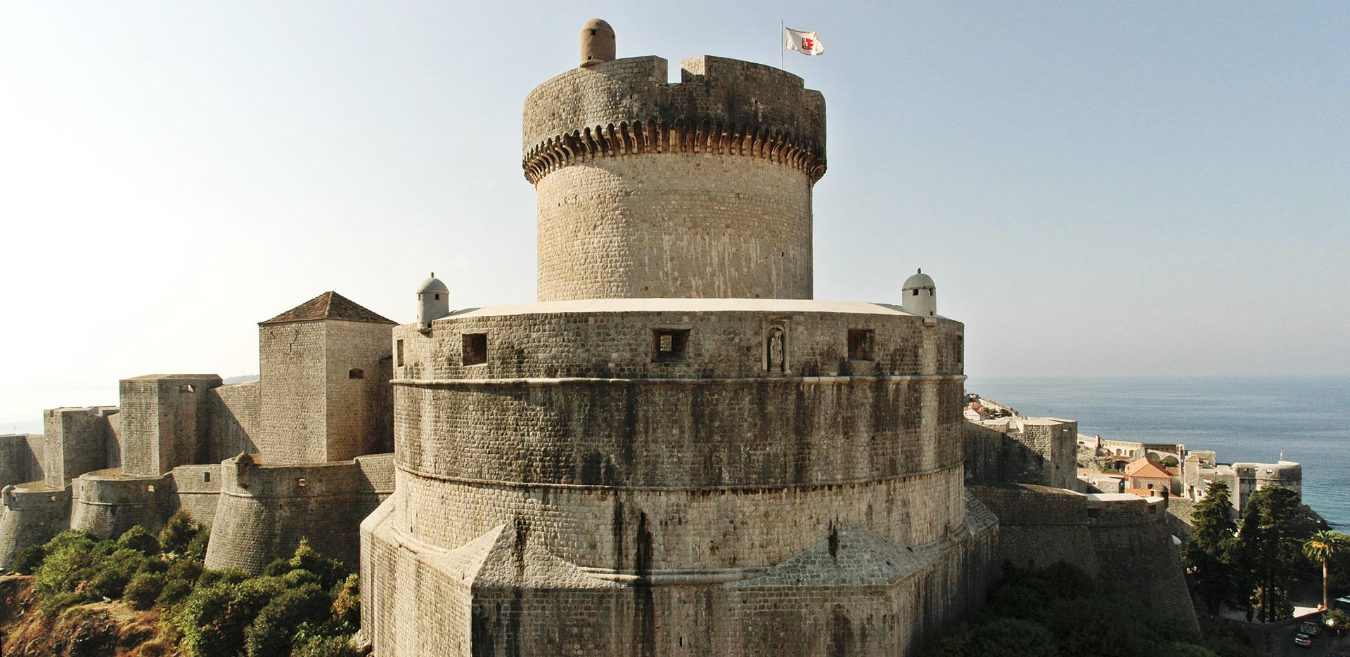 St. John's Fortress city walls Fortress monuments Dubrovnik GoDubrovnik Sponza Stradun Street cover