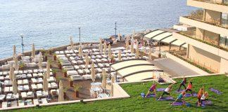 yoga cover workout Rixos hotel
