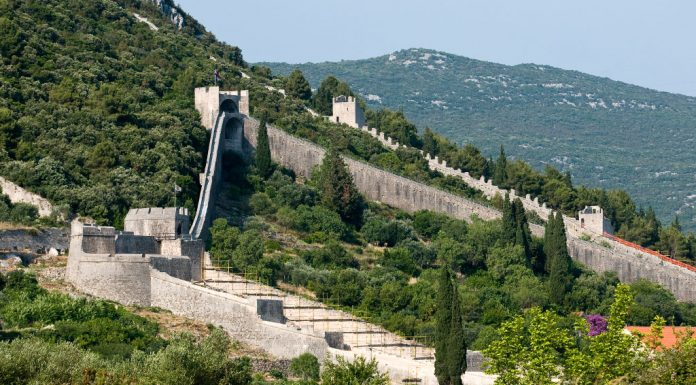 Salt Ston City Walls Longest Wall In Europe history Peljesac