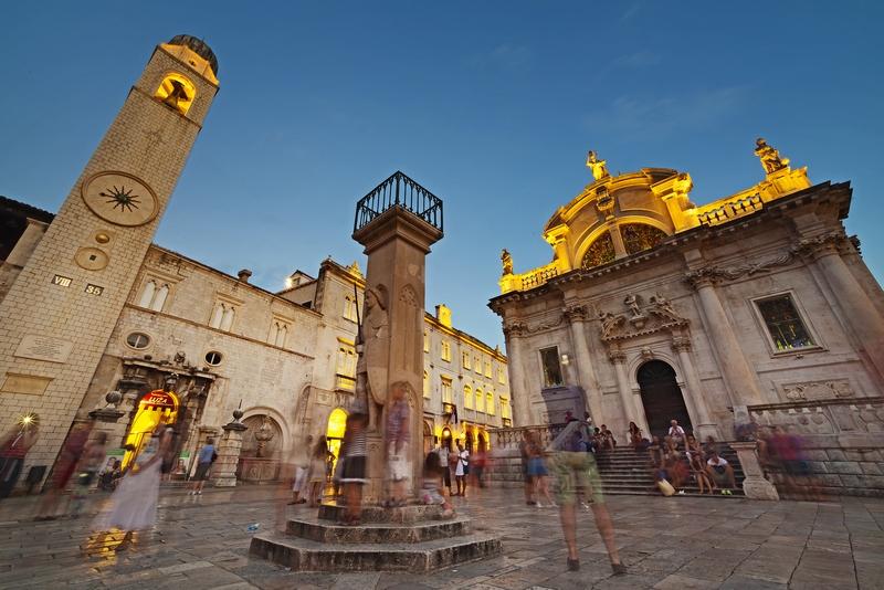 Orlando's Column St. John's Fortress city walls Fortress monuments Dubrovnik GoDubrovnik Sponza Stradun Street