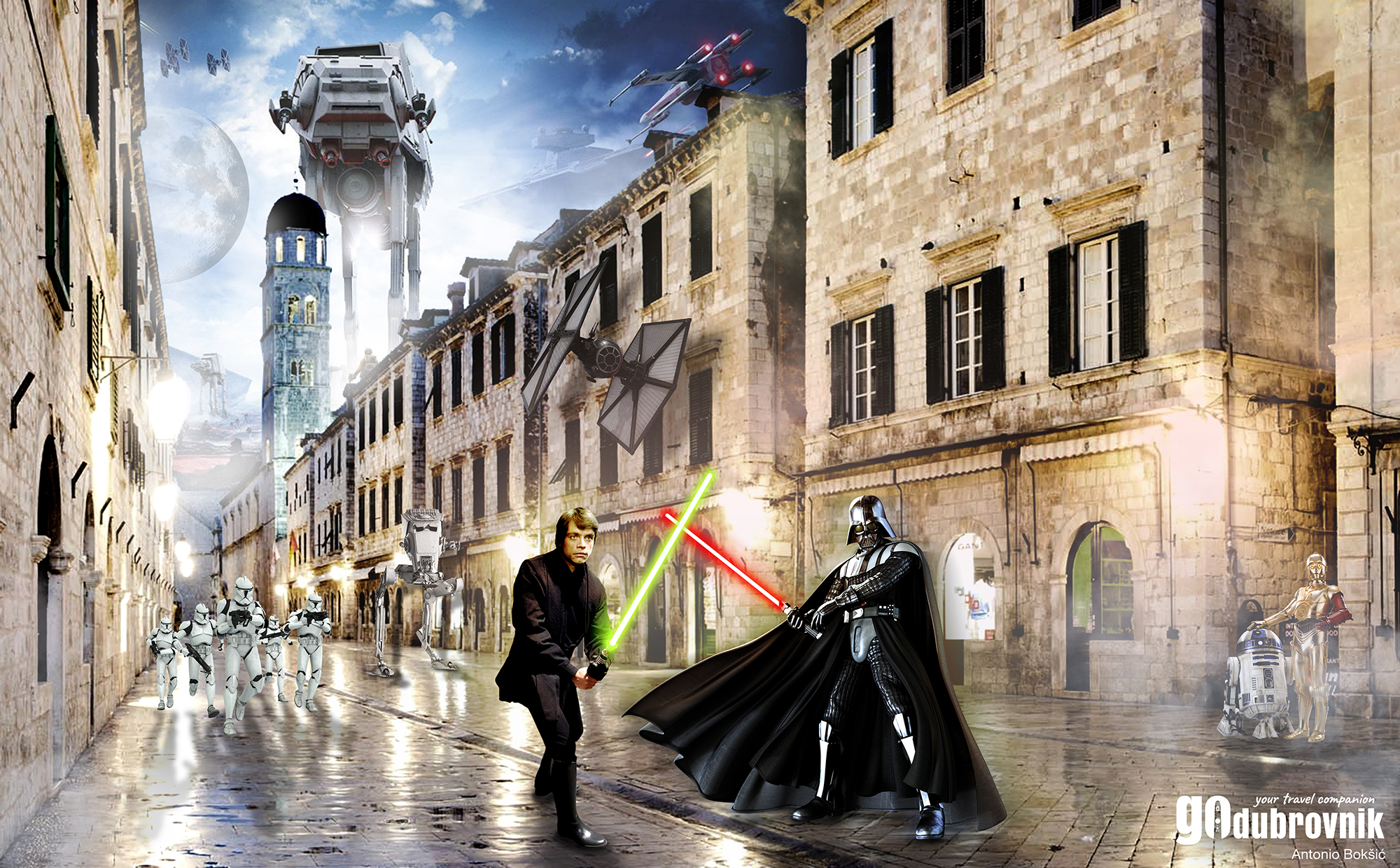 darth vader croatia star wars go dubrovnik