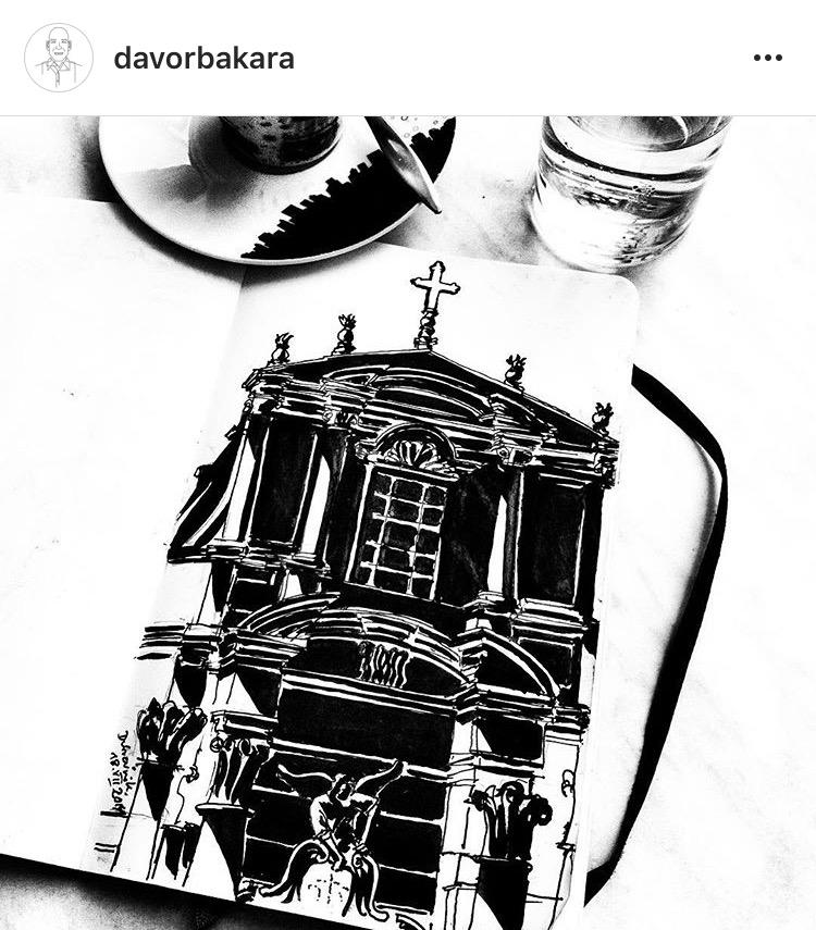 davor bakara dubrovnik illustration painting dubrovnik go dubrovnik (1)