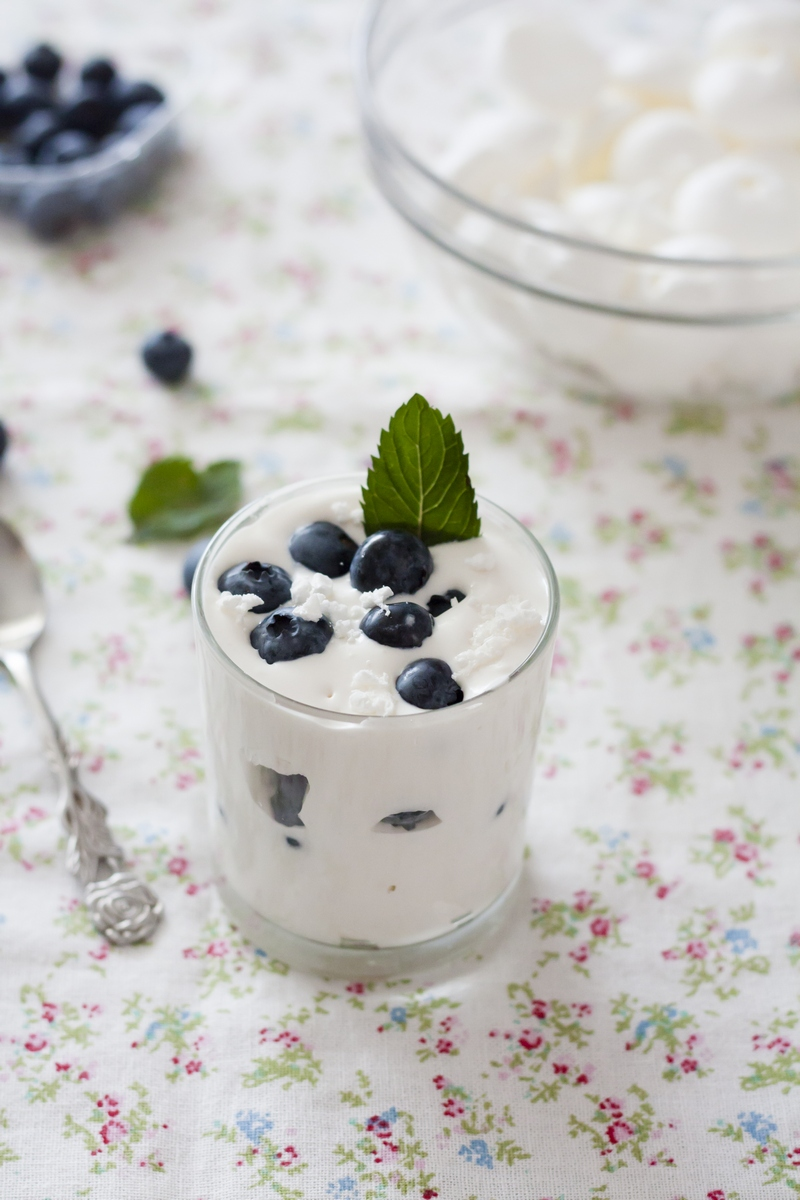 recipe dessert glass Eton mess with blueberries Tamara Novakovic Dubrovnik GoDubrovnik