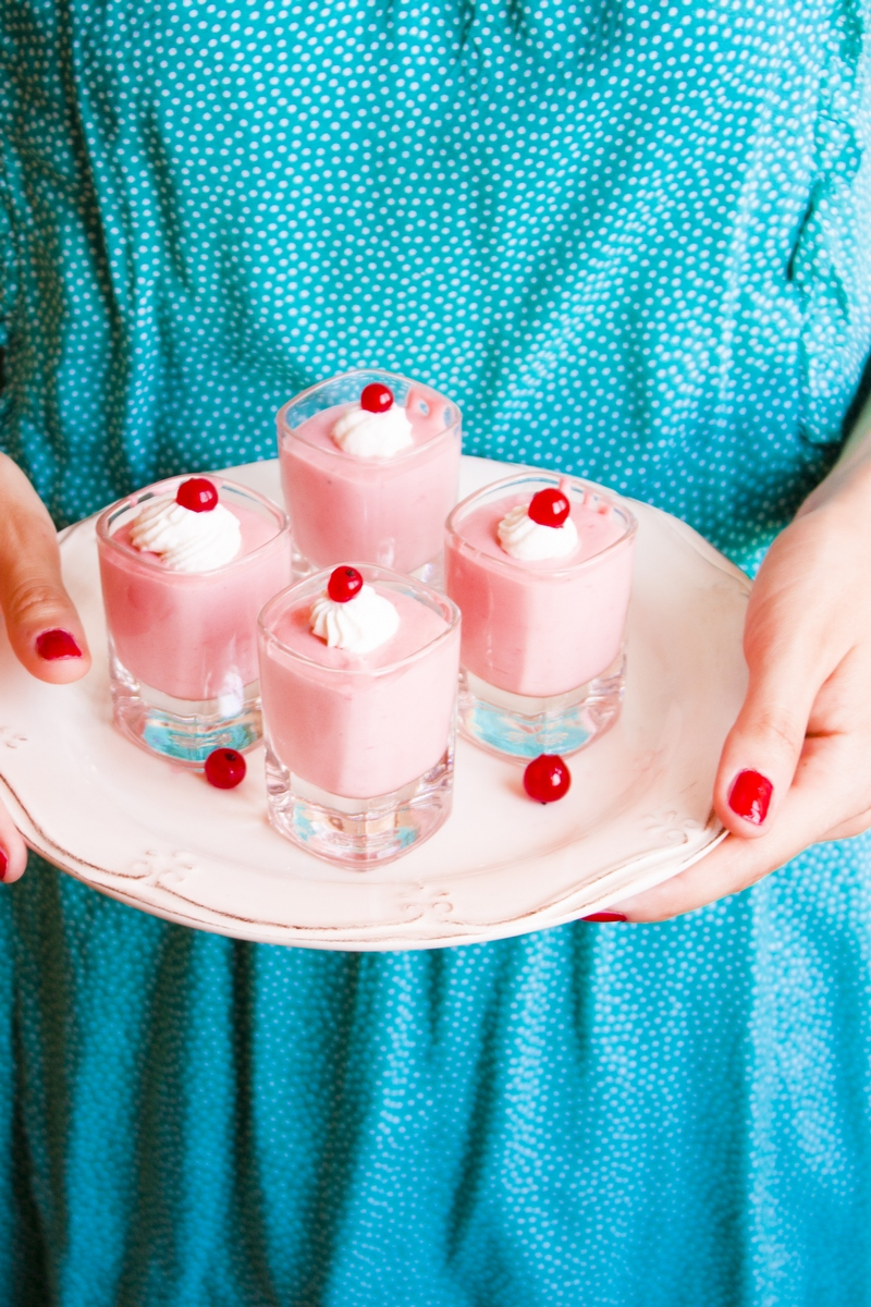 Red currant mousse in glass Dubrovnik Gastro recipe Tamara Novakovic dessert