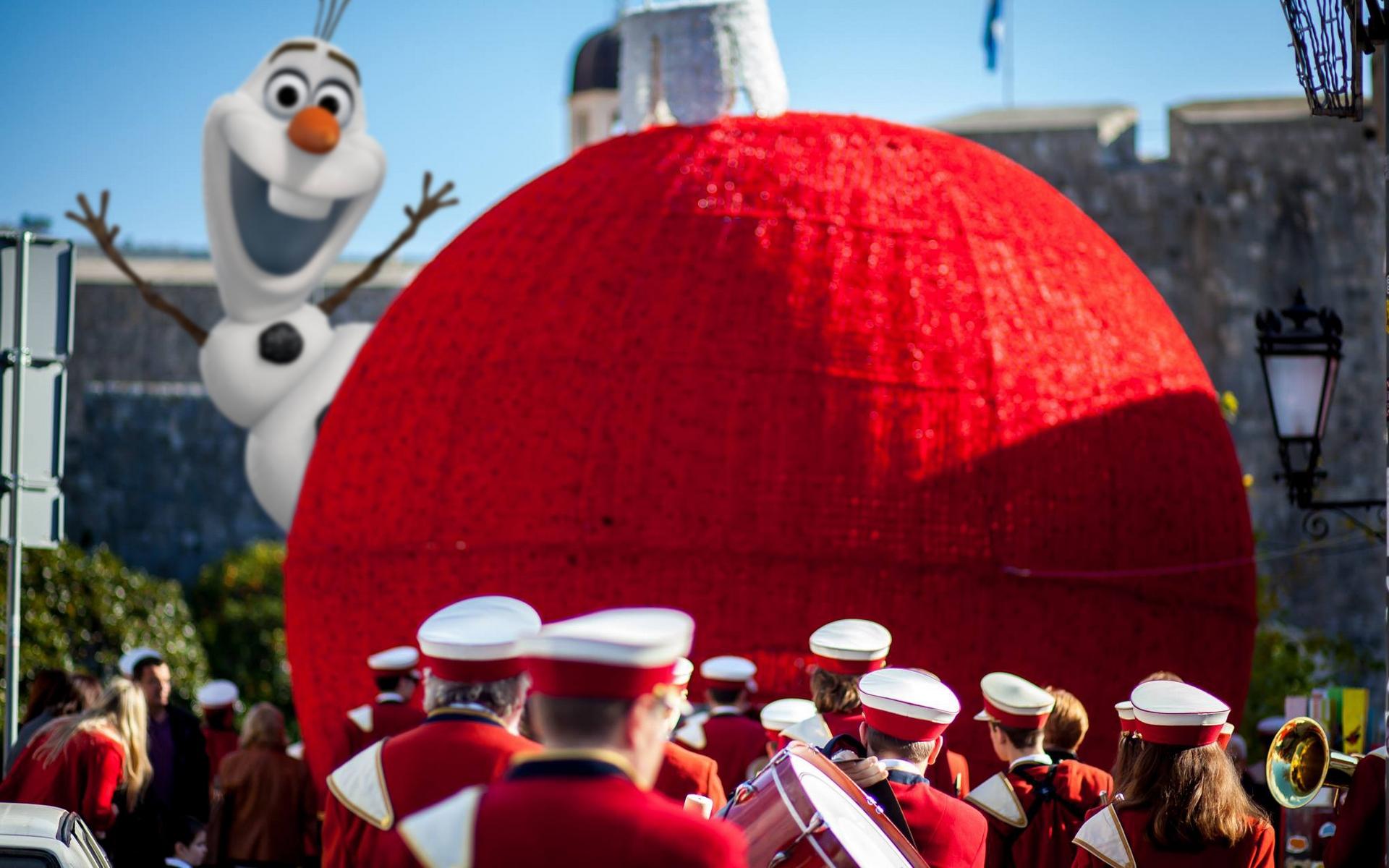 Dubrovnik Winter Festival Olaf Frozen Snowman