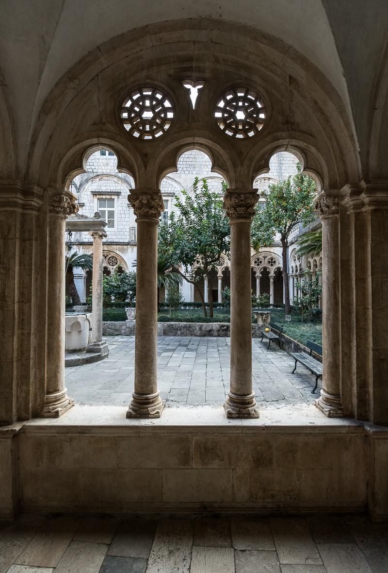 Dominican Monastery Dubrovnik Old Town art Croatia