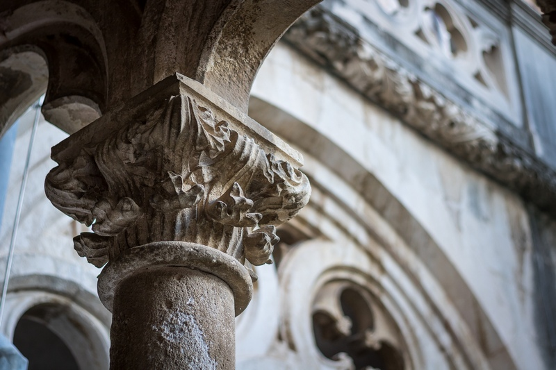 Dominican Monastery Dubrovnik Old Town monuments Croatia