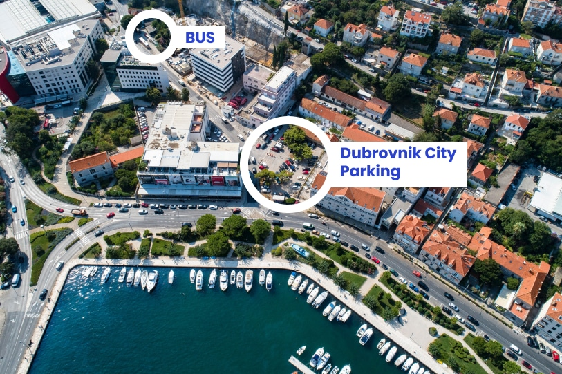 the best place to park in Dubrovnik
