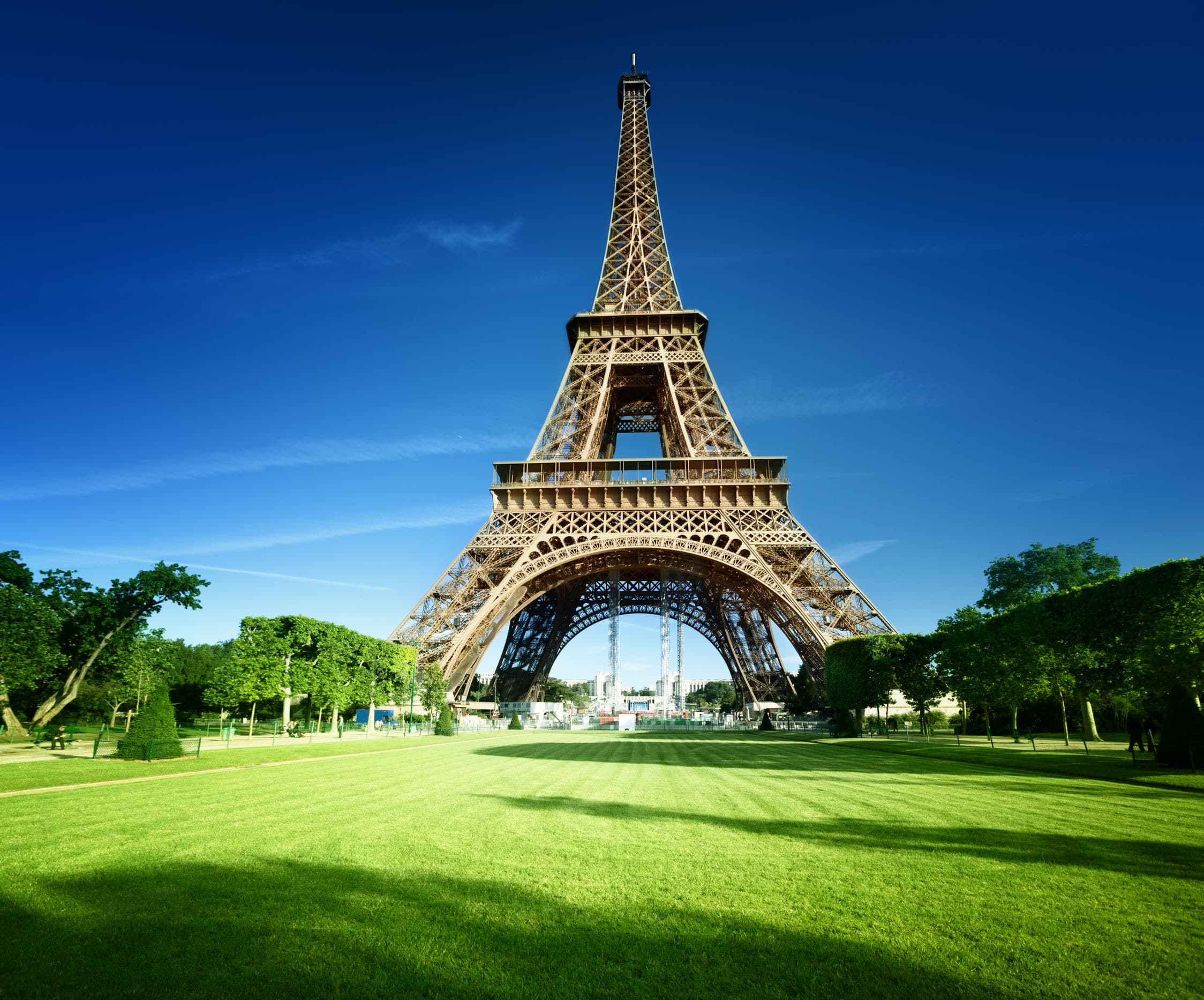 Eiffel tower in Paris picnic