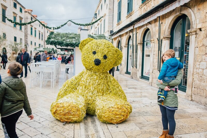 Dubrovnik Winter Festival Bear Event in Dubrovnik