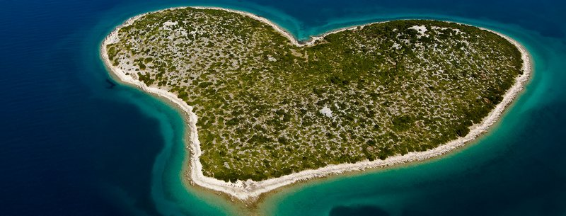 love island heart-shape Croatia Zadar Dubrovnik nature