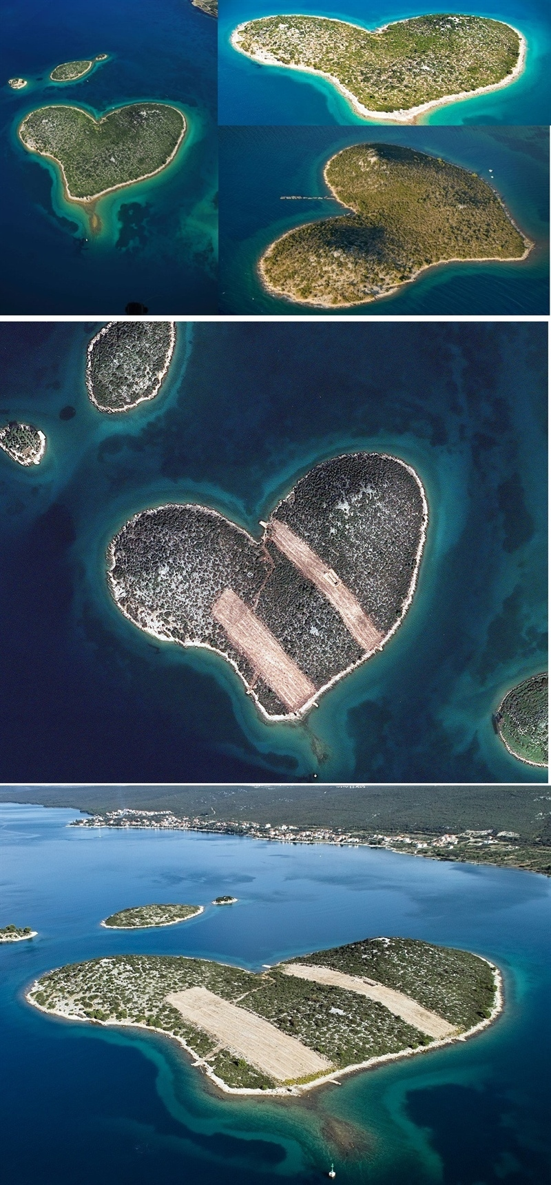 love island heart-shape Croatia Zadar Dubrovnik nature summer