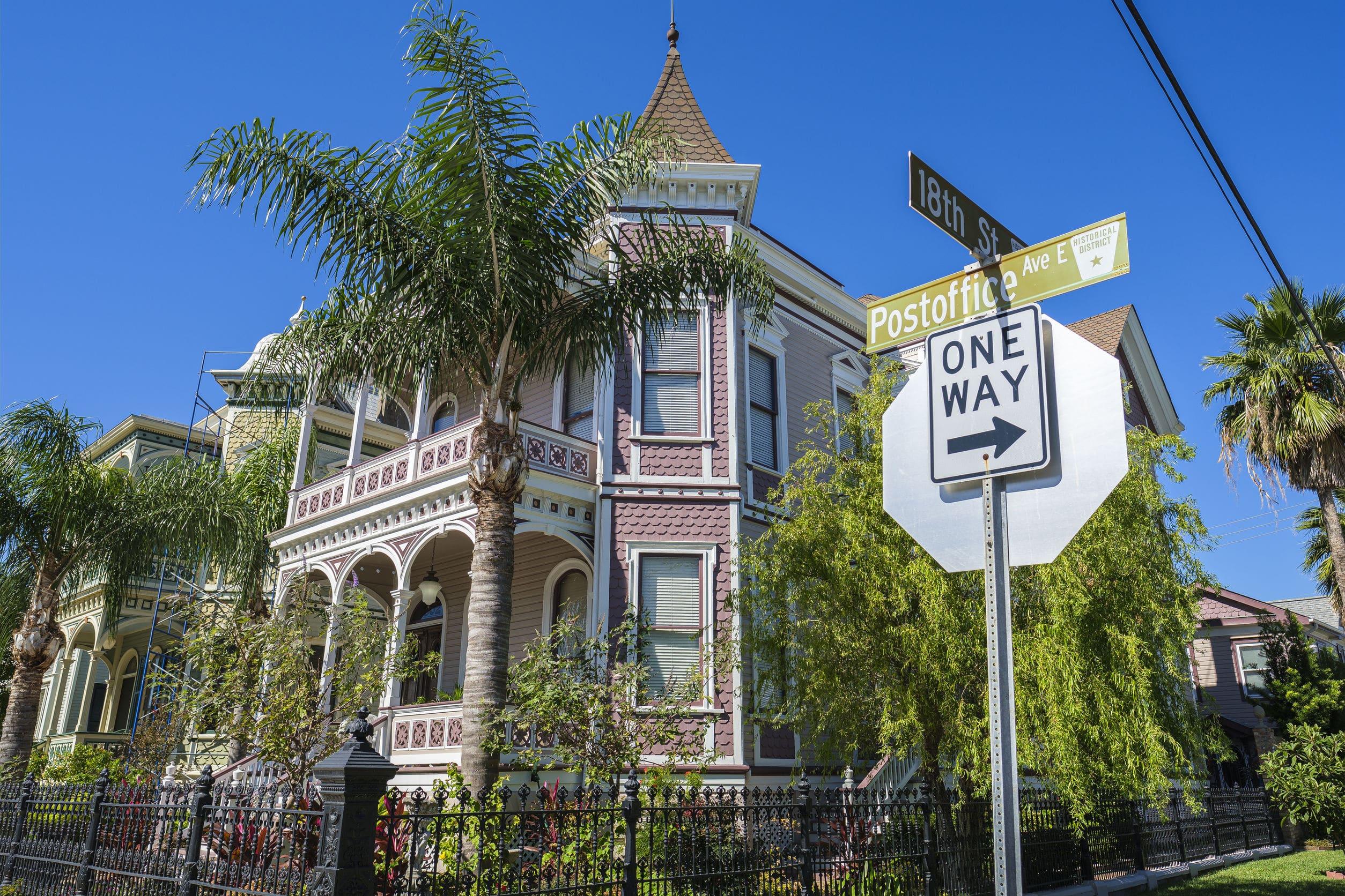 Historical home Galveston Texas