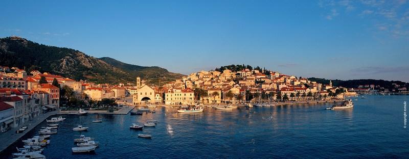 Old Town Hvar Island Adriatic Sea