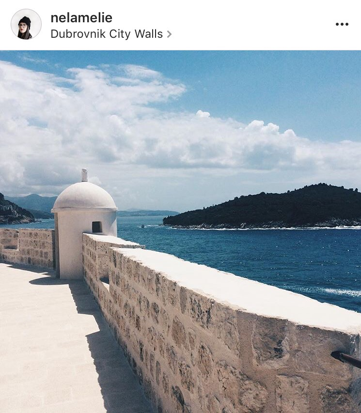 amelie nello dubrovnik city walls