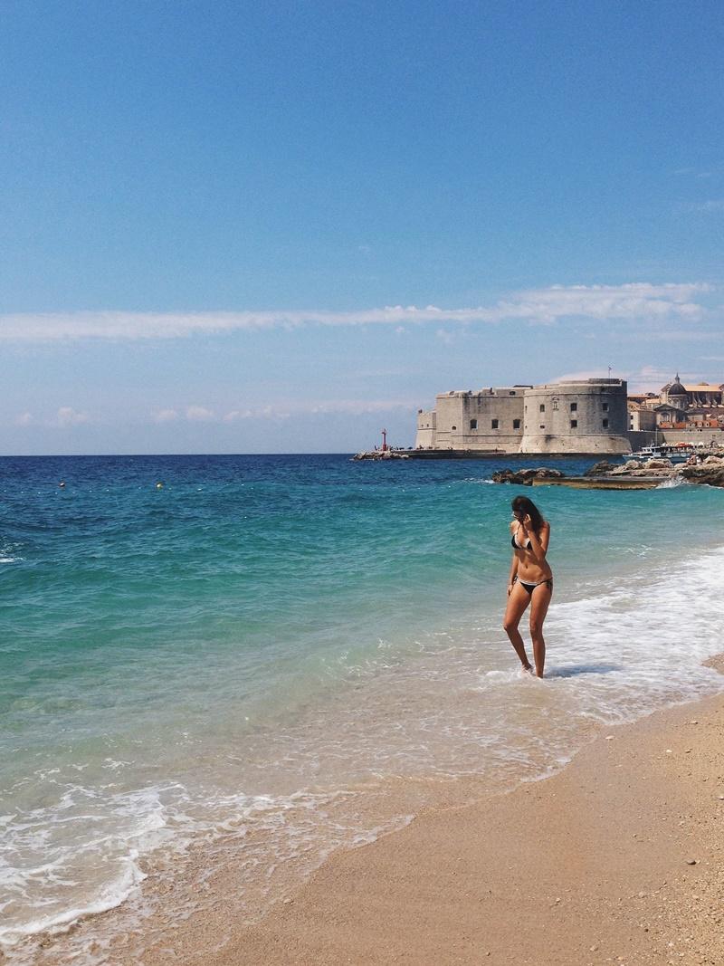 Josipa Dragun beach Banje Dubrovnik summer