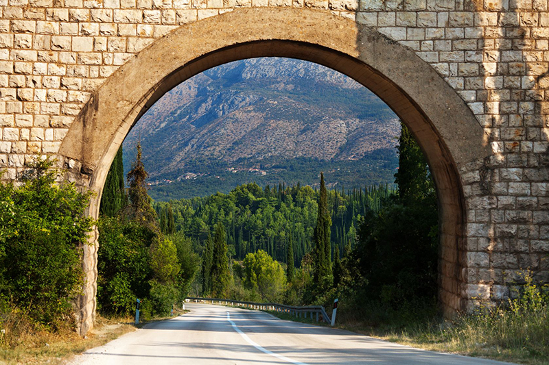 scenic archway in the heart of south croatia
