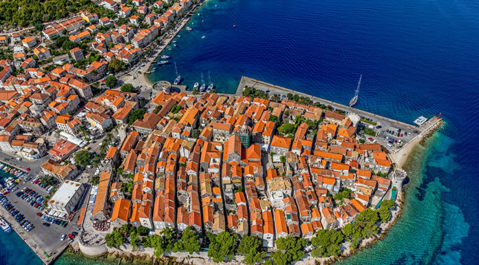 Korcula from air