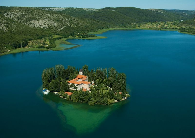 Island Visovac Croatia National park