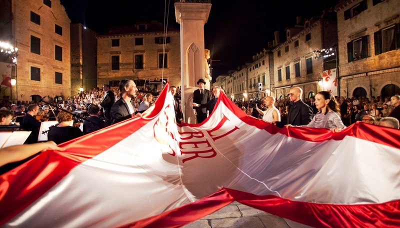 libertas flag Dubrovnik Dubrovnik summer festival art music Chasing the monkey