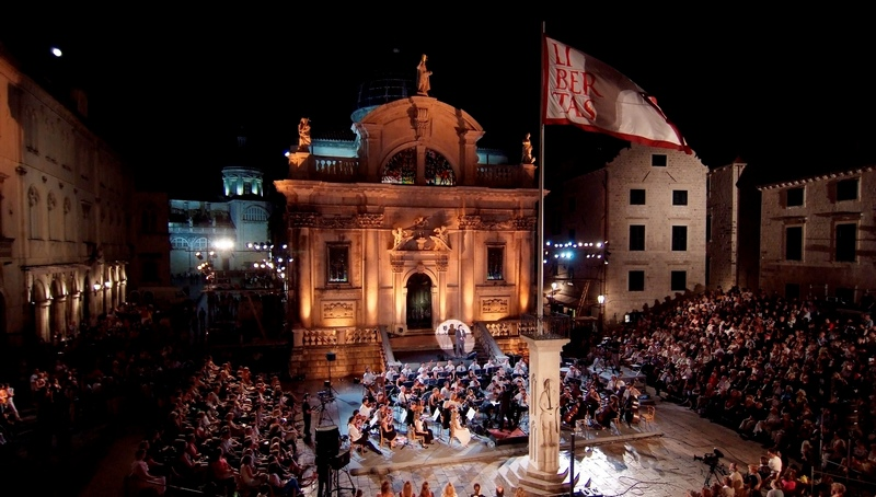 Dubrovnik Summer Festival art music Old Town square