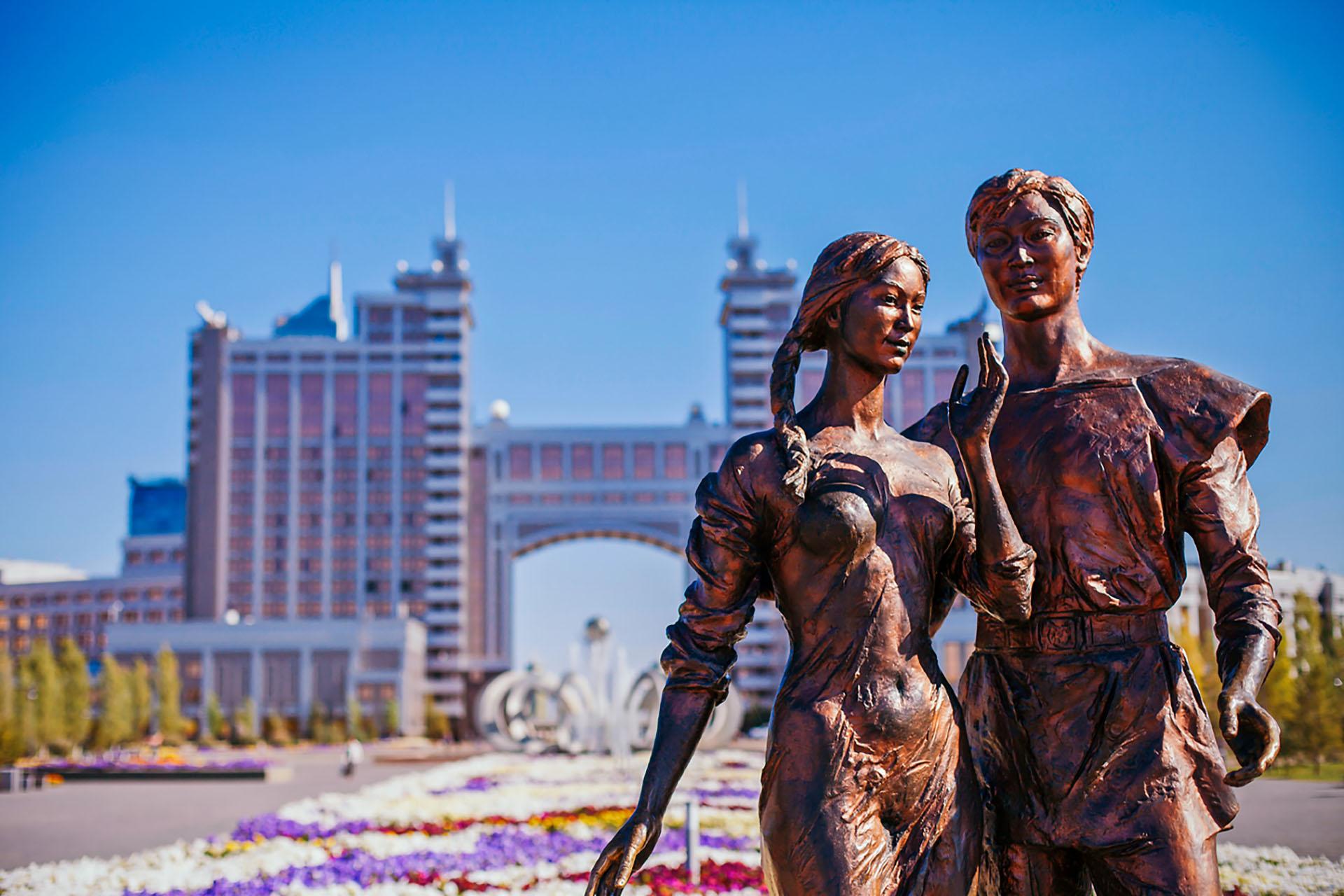 kazakhstan statue
