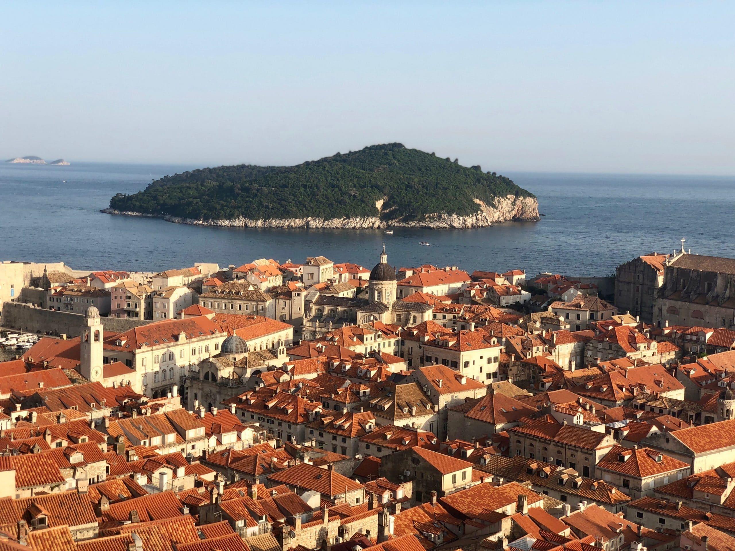 Dubrovnik old town skyline