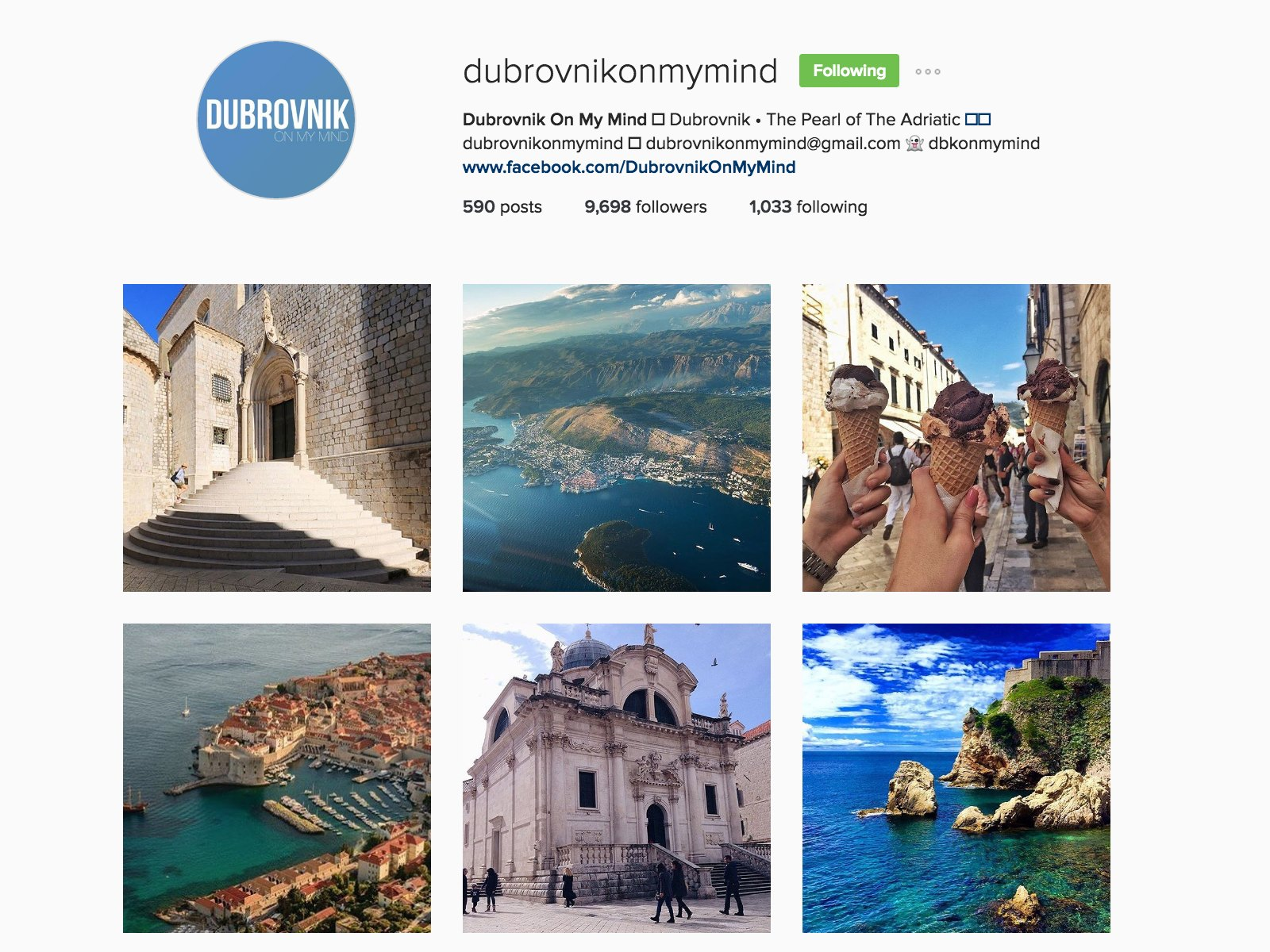 dubrovnik on my mind instagram
