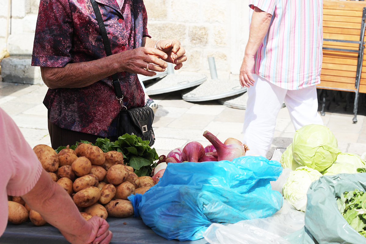 pjaca dubrovnik green market organic