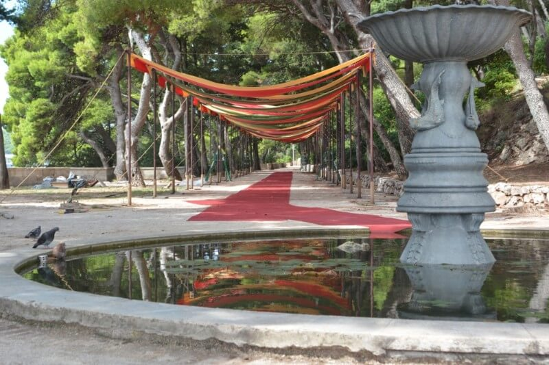 gradac park purple wedding dubrovnik