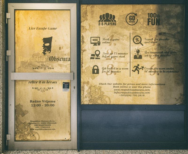 Room Escape Dubrovnik Republica obscura