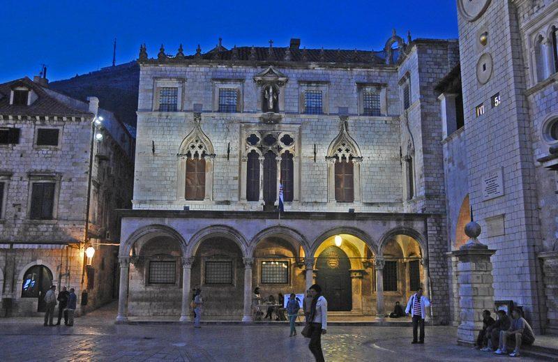 Sponza Palace city walls Fortress monuments Dubrovnik GoDubrovnik Sponza Stradun Street