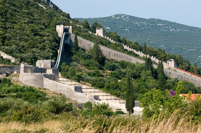 Croatia Salt Ston City Walls Longest Wall In Europe