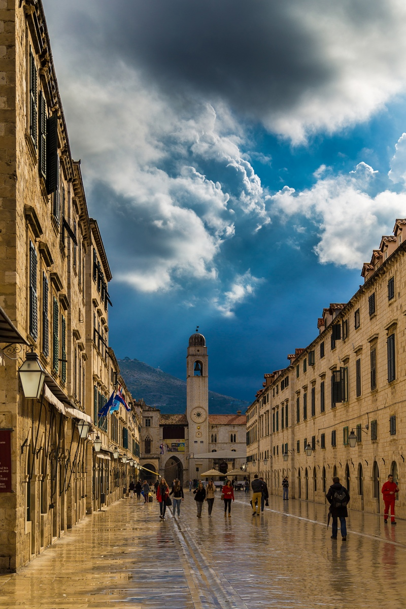 Stradun Dubrovnik Winter