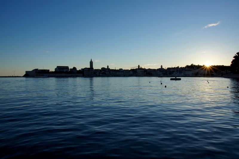 sunset otok rab