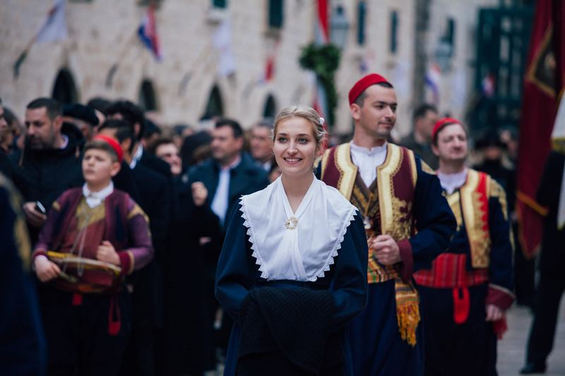 nošnja Festa sv. Vlaha Dubrovnik